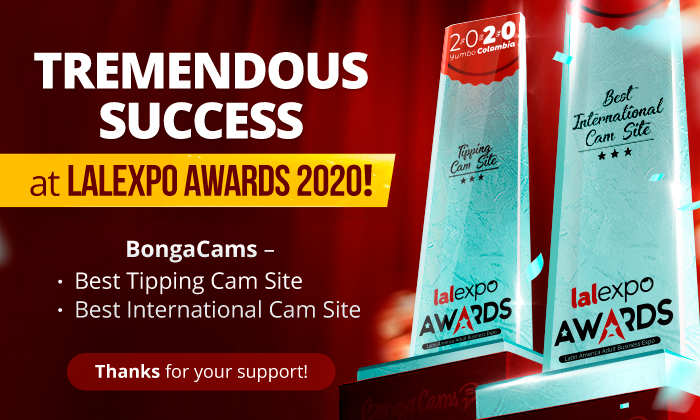 Tremendous success of BongaCams at LALEXPO AWARDS 2020!