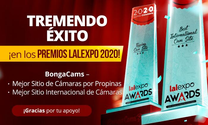 ¡Tremendo éxito de BongaCams en los PREMIOS LALEXPO 2020!