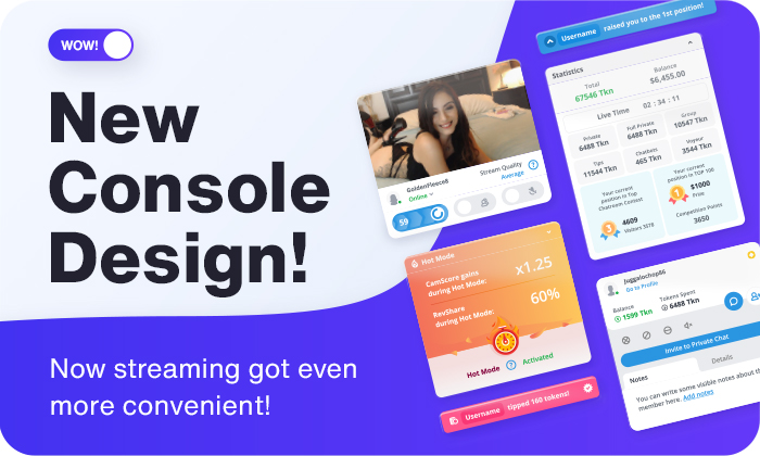 Meet the new streaming console design!