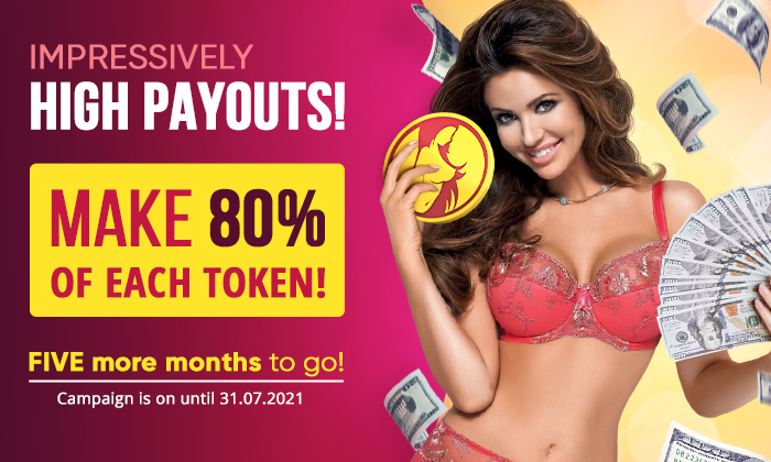 🤑 IMPRESSIVELY HIGH PAYOUTS! Get UP TO 80% FROM EACH TOKEN!