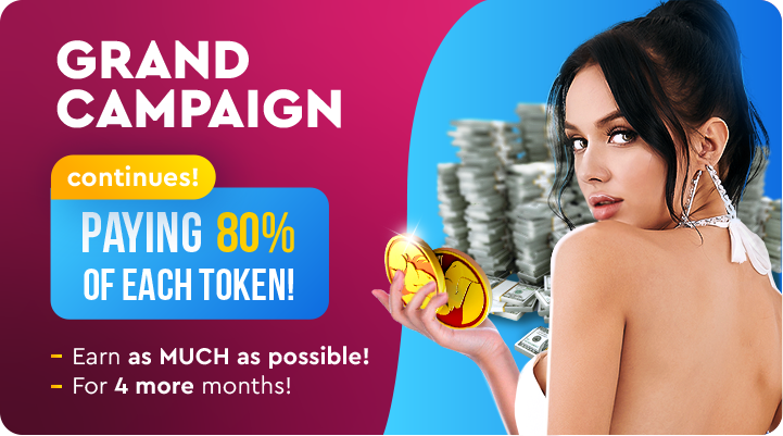 FOUR MORE MONTHS OF EXTREME PROFIT! 🚀 GET PAID UP TO 80% OF EACH TOKEN!