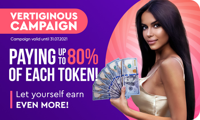 Let yourself earn even MORE! 💸 Receive up to 80% OF EACH TOKEN!