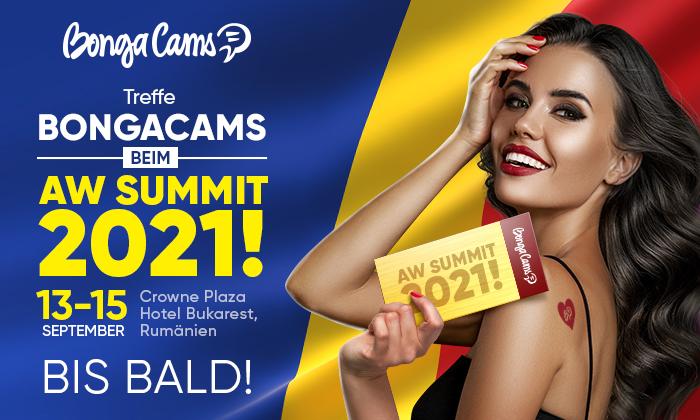 Triff das BongaCams-Team auf dem AW Summit diesen September!