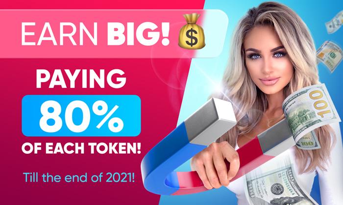 EARN BIG! 💰 PAYING 80% OF EACH TOKEN!