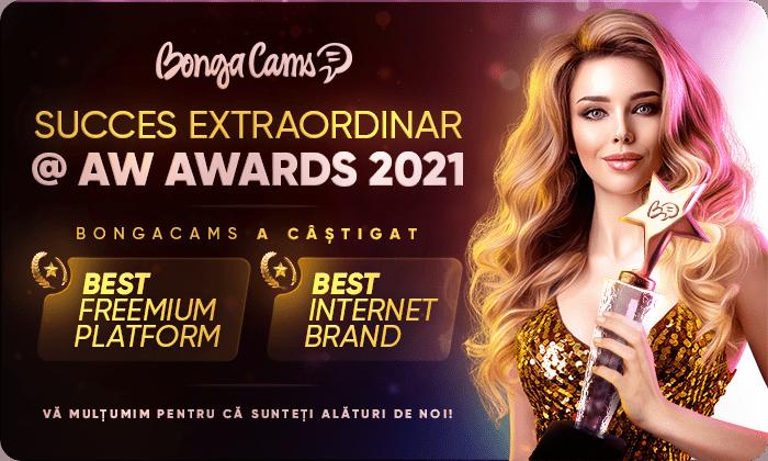 VICTORIE EXTRAORDINARĂ! BongaCams a câștigat la DOUĂ categorii în cadrul AW Awards 2021! 👏🏻